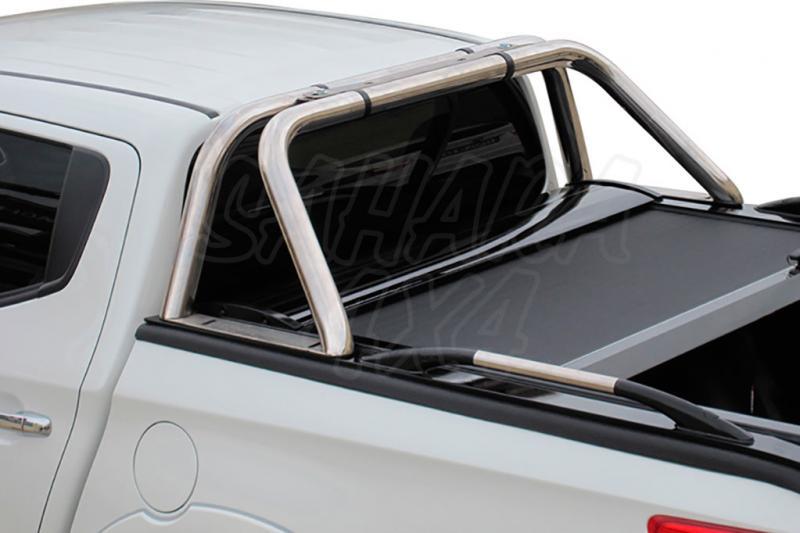 Roll Bar Acero inoxidable compatible con persiana enrollable Tessera  - Valido para las tapas enrollables de aluminio Tessera