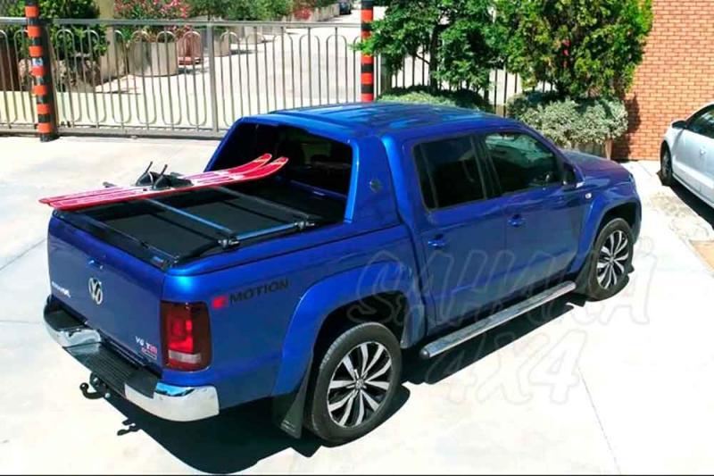 Persiana enrollable en aluminio, compatible con rollbar Aventura doble cabin Volkswagen Amarok 2010-
