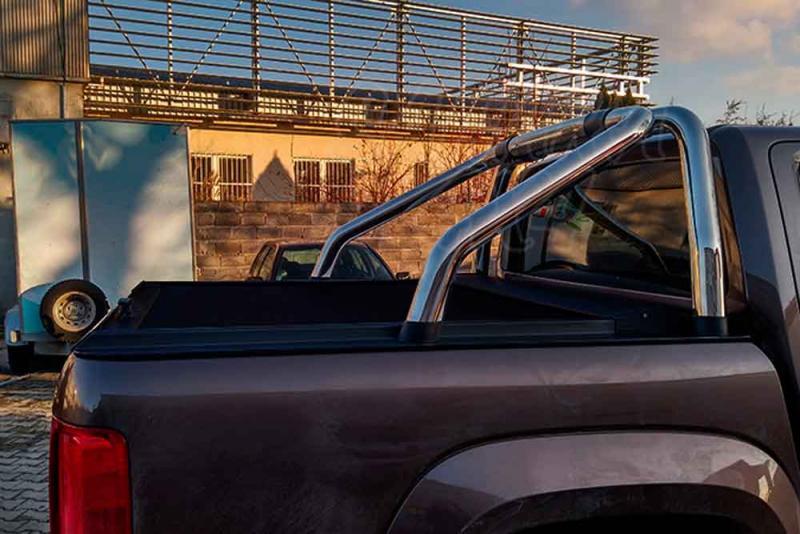 Persiana enrollable en aluminio, compatible con/sin rollbar VW doble cabin Volkswagen Amarok 2010- - Para Doble cabina, compatible con rollbar inox VW