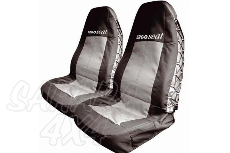 Fundas delanteras safari ERGO SEAT - 2 Fundas delanteras. ENTREGA INMEDIATA!!!!!!! Color NEGRO / GRIS.