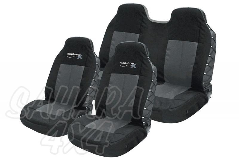 Fundas asientos Adventure ERGO SEAT - Fundas delanteras + traseras . ENTREGA INMEDIATA!!!!!!! Color NEGRO / GRIS.