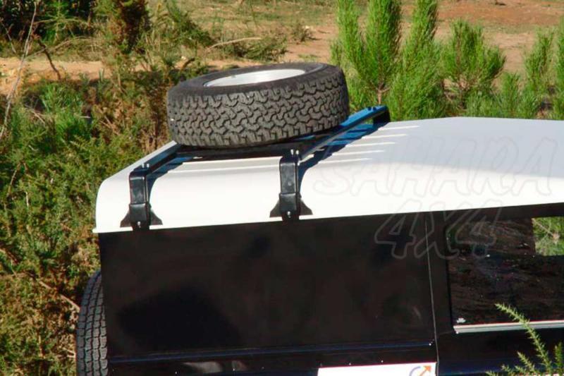 Soporte de rueda de repuesto para techo AFN para Land Rover  - Valido para diferentes modelos.
