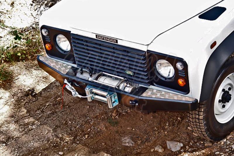 Parachoques frontal con base de cabrestante, con aluminio protector AFN para Land Rover Defender 90  - (sólo modelos sin aire acondicionado)
