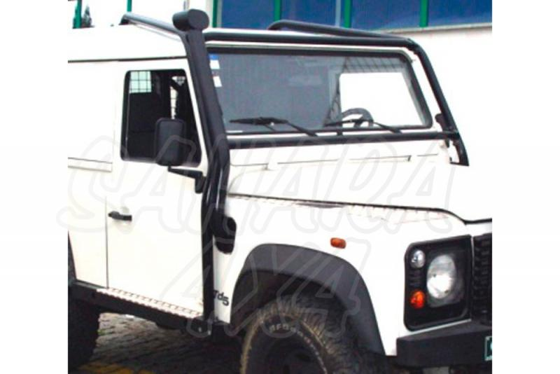 Rollbar (barras antivuelco) exterior frontal e interior trasero en tubo negro Land Rover Defender 90 - Valido Defender 90.