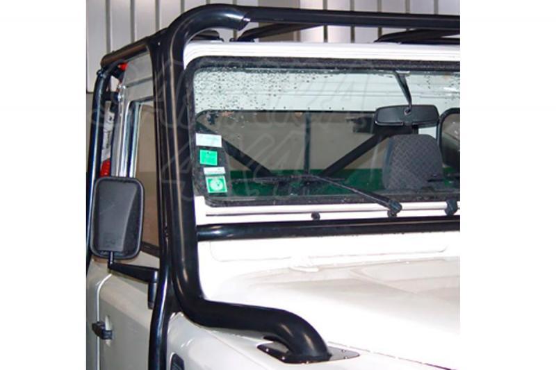 Snorkel (toma de aire elevada) AFN en acero para vehículos con rollbar para Land Rover Defender  - (lado derecho, toma superior)