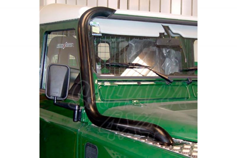 Snorkel (toma de aire elevada) AFN en acero para vehículos sin rollbar para Land Rover Defender  - (lado derecho, toma superior)