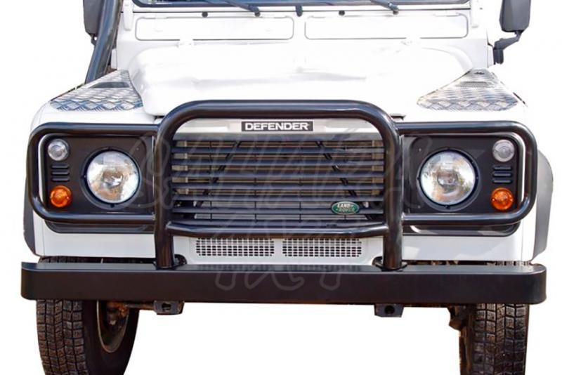 Defensa integral en tubo negro AFN para instalar en parachoques de origen para Land Rover Defender - TD5/TD4 1998-