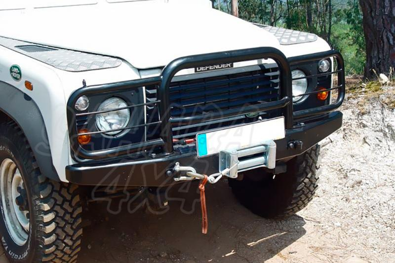 Defensa integral en tubo negro AFN para Land Rover Defender - Para instalar sobre parachoques frontal 189.10015/17  Nota: * Referencia bajo pedido