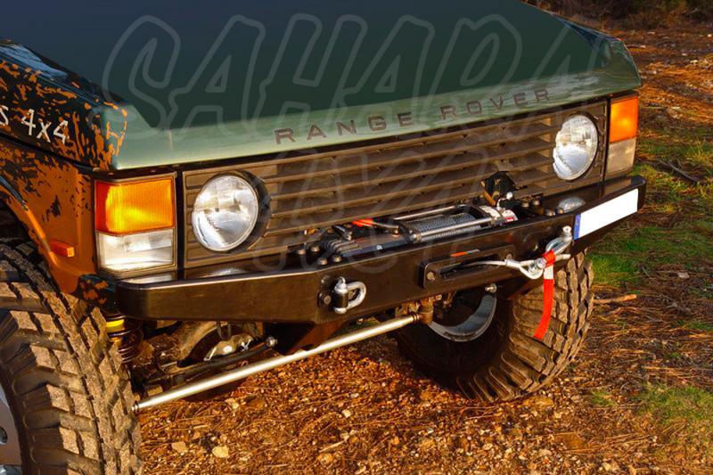 Parachoques frontal con base de cabestrante Range Rover Classic - Fabricado en acero con soporte de winch