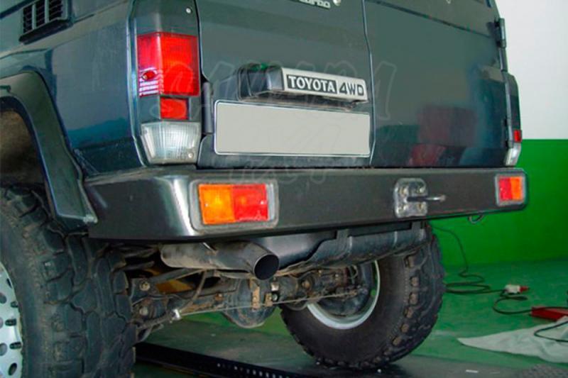 Parachoques trasero AFN en acero con hueco para pilotos para Toyota LandCruiser LJ70 1983-1996