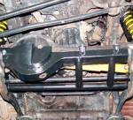 Protección de diferencial delantero en acero negro 4mm AFN para Toyota J70 1983-1996 -