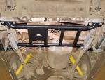 Protección de tránsfer en acero negro 4mm AFN para Toyota J70 1983-1996 -