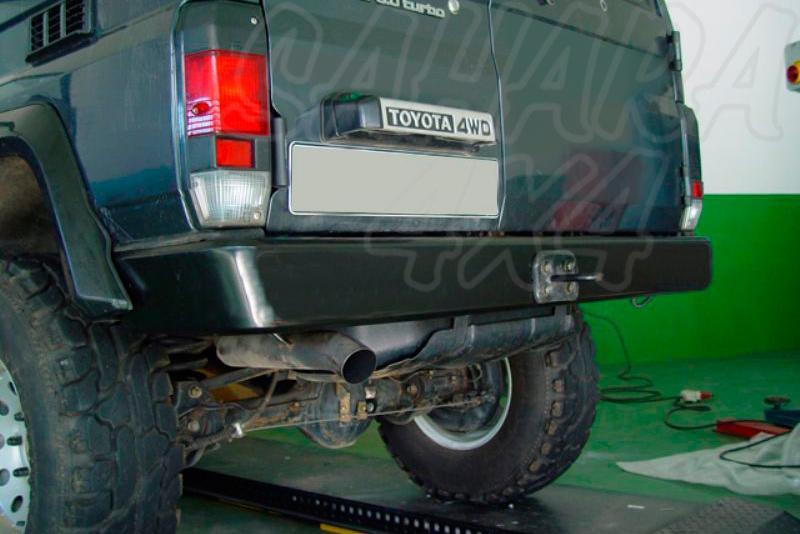 Parachoques trasero AFN en acero sin hueco para pilotos para Toyota LandCruiser LJ70 1983-1996