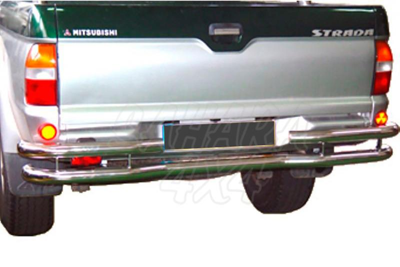 Parachoques trasero en doble tubo inox AFN para Mitsubishi L-200 1996-2006 -