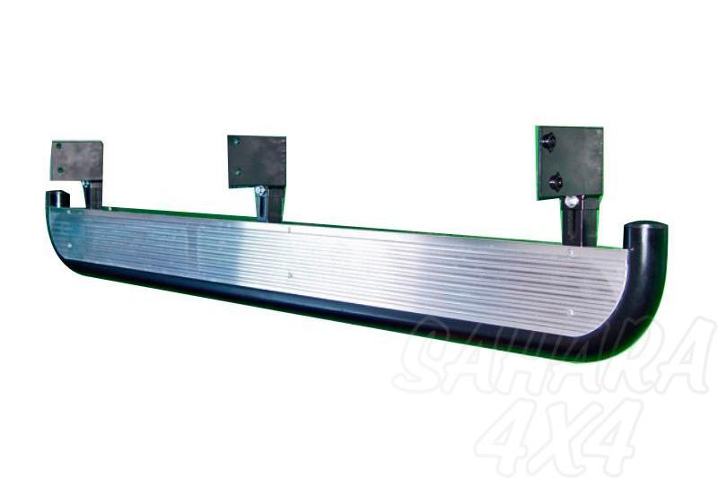 Estribos en plataforma de aluminio con tubo negro Ø60mm AFN para Toyota Hilux 2001-2005  - Para Doble cabina