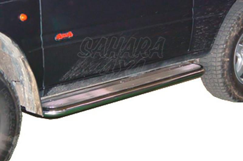 Estribos en plataforma de aluminio con tubo inox AFN para Opel Frontera 1995-1998 -