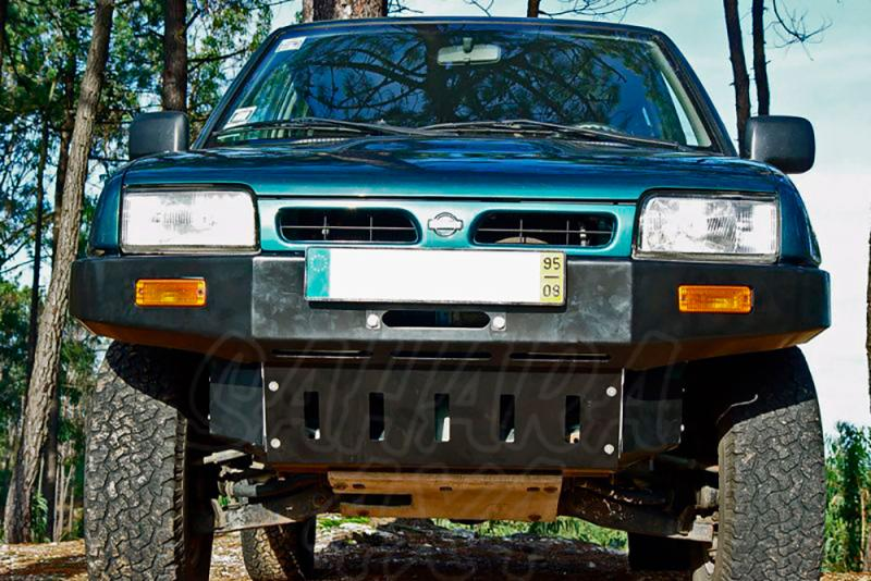 Parachoques frontal con base de cabestrante y huecos para faros AFN para Nissan Terrano II 1993-1996 -