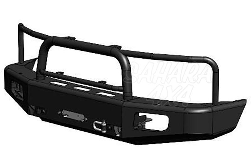Parachoques frontal con base de cabestrante y huecos para pilotos AFN para Toyota LandCruiser HDJ100