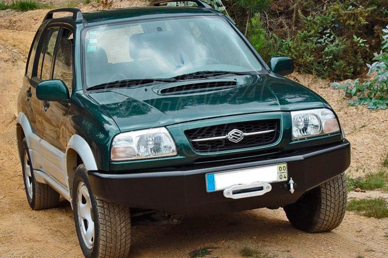 Parachoques frontal con base de cabestrante AFN para Suzuki Grand Vitara 1998-2005 - Fabricado en acero con soporte de winch