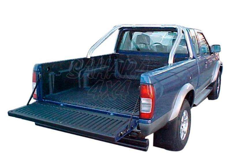 Rollbar en tubo negro Ø70mm, con protección de cristal de cabina AFN para Nissan Navara  - Para D-22 2002-2005