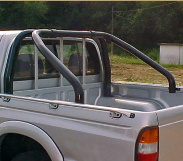 Rollbar (barras antivuelco) en tubo negro Ø70mm para Mazda B-2500 1999-2006 (doble cabina) -