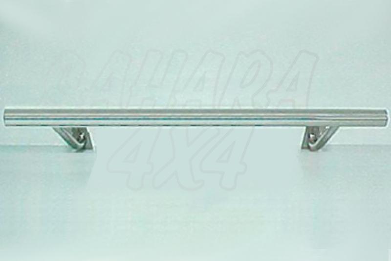 Protector inferior de parachoques trasero en tubo simple inox Ø70mm  -