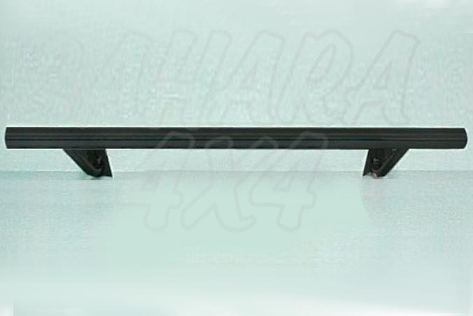 Protector inferior de parachoques trasero en tubo simple negro Ø70mm -