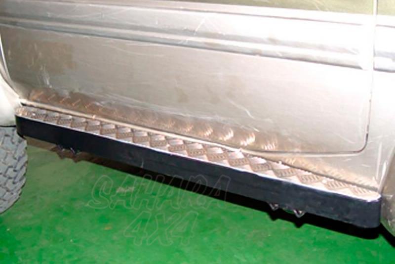 Taloneras/protecciones laterales para gato con aluminio antideslizante AFN para Nissan Patrol GR Y61 -