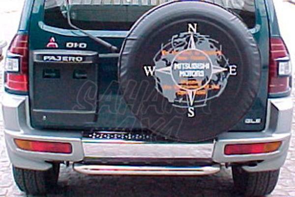 Protector inferior de parachoques trasero en tubo inox AFN para Mitsubishi Montero V60 2000-2002  -