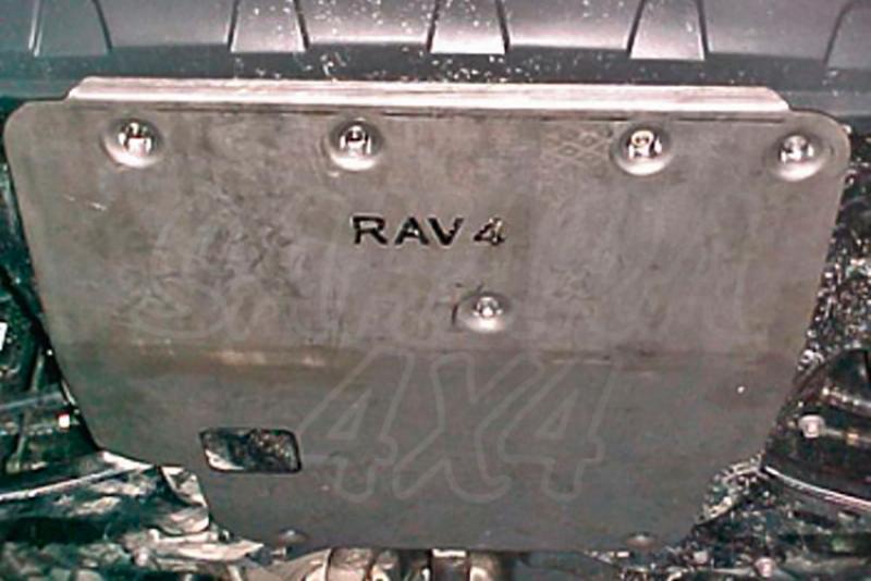 Protección de cárter en duraluminio 6mm  AFN para Toyota Rav4 2000-2005 - Para motores gasolina. (Imagen no contra actual)