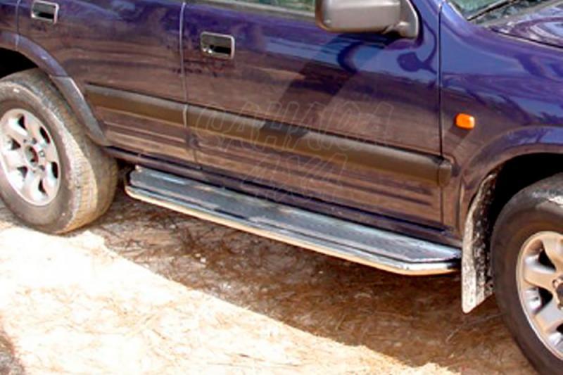 Estribos en plataforma de aluminio con tubo inox AFN para Opel Frontera B 1998-2004 -