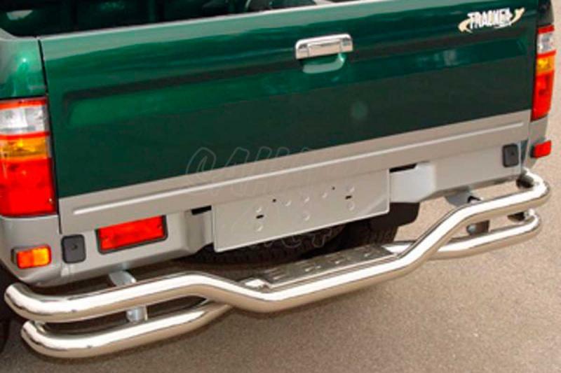 Parachoques trasero en doble tubo inox Ø60mm AFN para Toyota Hilux 2001-2005 -