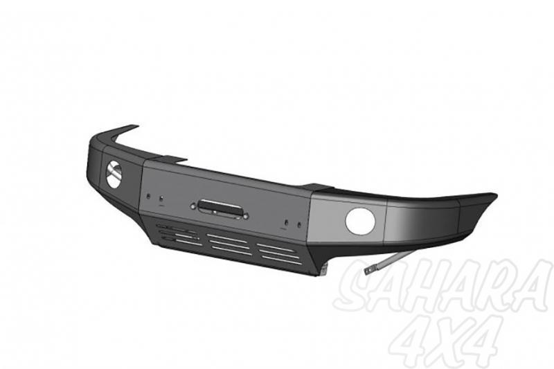 Parachoques frontal con base de cabestrante y huecos para pilotos AFN para Nissan Navara D-22/NP300 - Para D-22 2002-2005 y NP300 2008-