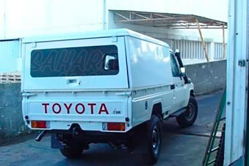 HardTop en aluminio AFN para Toyota LandCruiser J79 - Sin ventanas laterales y con portón trasero horizonta.