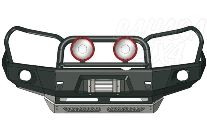 Parachoques frontal con base de cabestrante y huecos para faros AFN para Toyota LandCruiser 150/155 - Versión África (sólo 2009-2014).