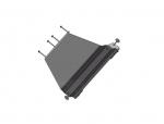 Protección de tránsfer en acero zincado 4mm AFN para Toyota LandCruiser 155  - 3 puertas