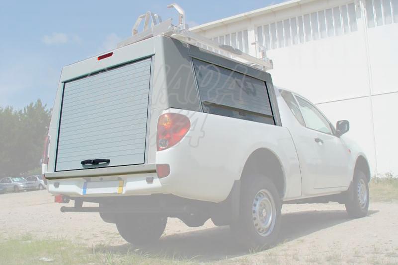 HardTop en aluminio con persianas (laterales y trasera) para Mitsubishi L-200 Triton 2010-2015 - Para Extra cabina