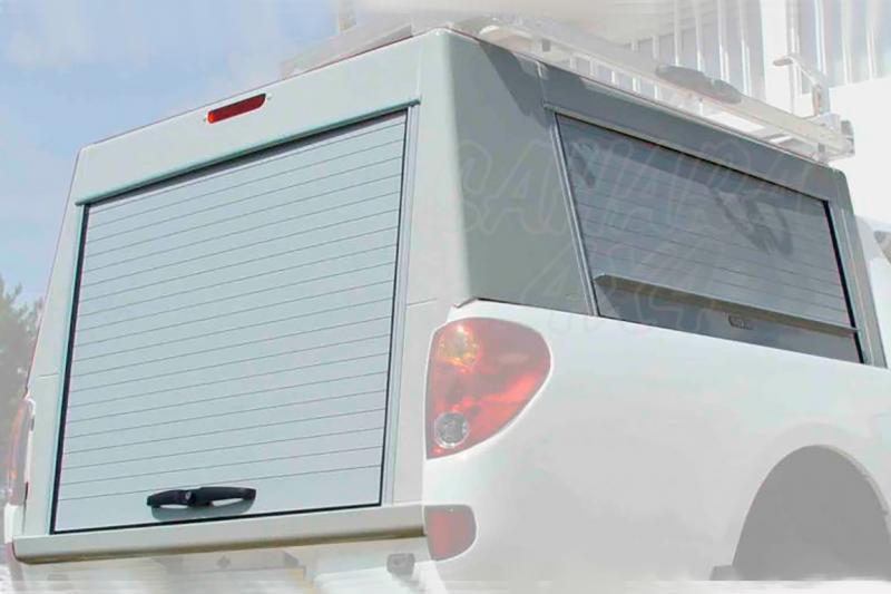 HardTop en aluminio con persianas (laterales y trasera) para Mitsubishi L-200 Triton 2010-2015 - Para Doble cabina