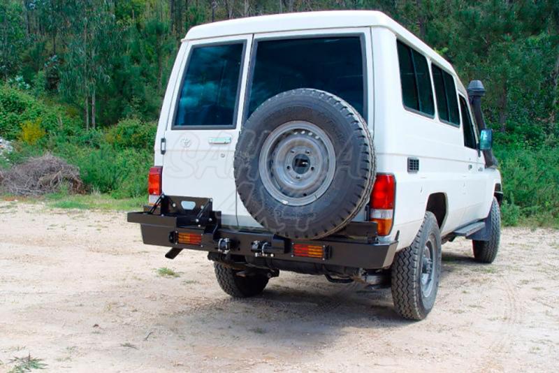 Parachoques trasero con doble soporte para rueda y bidón AFN para Toyota LandCruiser - Para J76/78/79