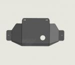 Protección de tránsfer en duraluminio 6mm AFN para Toyota LandCruiser 150  - 5 puertas