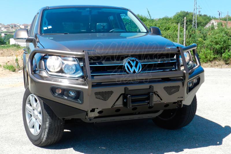 Parachoques frontal con base de cabestrante y faros de niebla integrados AFN. Versión África - Para Volkswagen Amarok 2010-