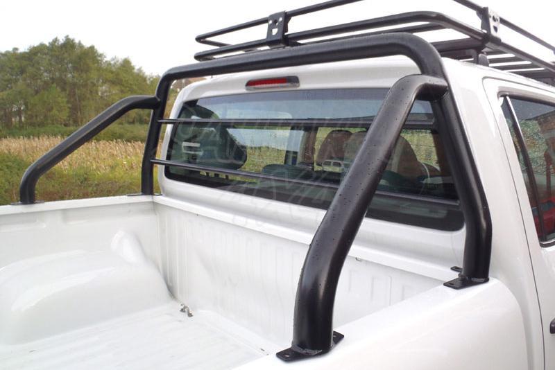Rollbar (barras antivuelco) en tubo negro Ø70mm AFN para Volkswagen Amarok 2010- - Con protección de cristal de cabina