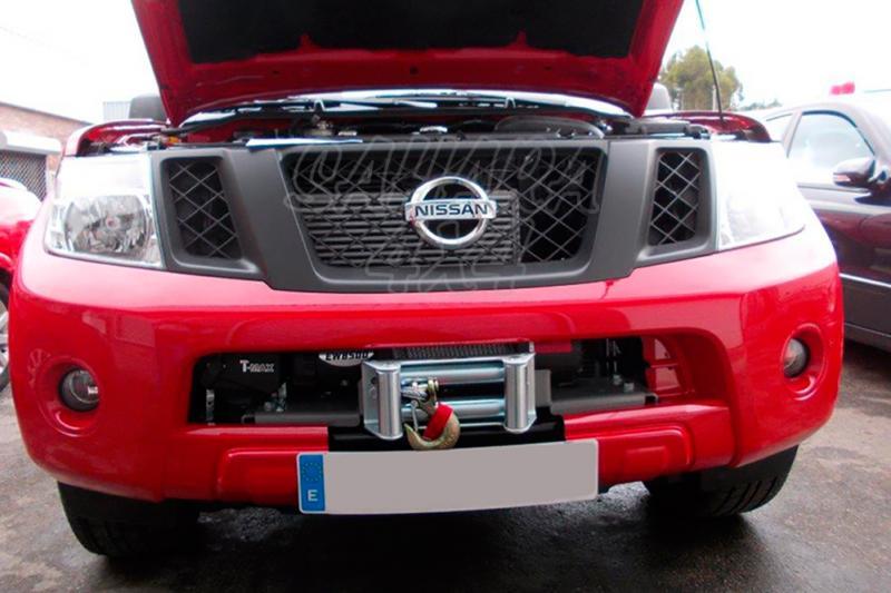 Base de cabestrante oculta para instalar en parachoques de origen AFN para Nissan Navara/Pathfinder - Para modelos de 2010-