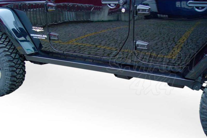 Taloneras/protecciones laterales para gato para Jeep Wrangler 2007- (5 puertas) -