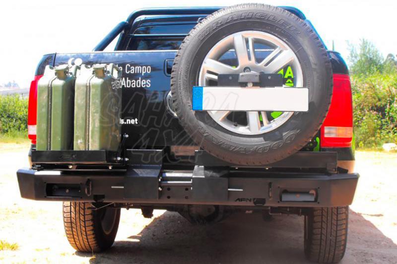 Parachoques trasero con doble soporte para rueda y bidón AFN para Volkswagen Amarok 2010- -