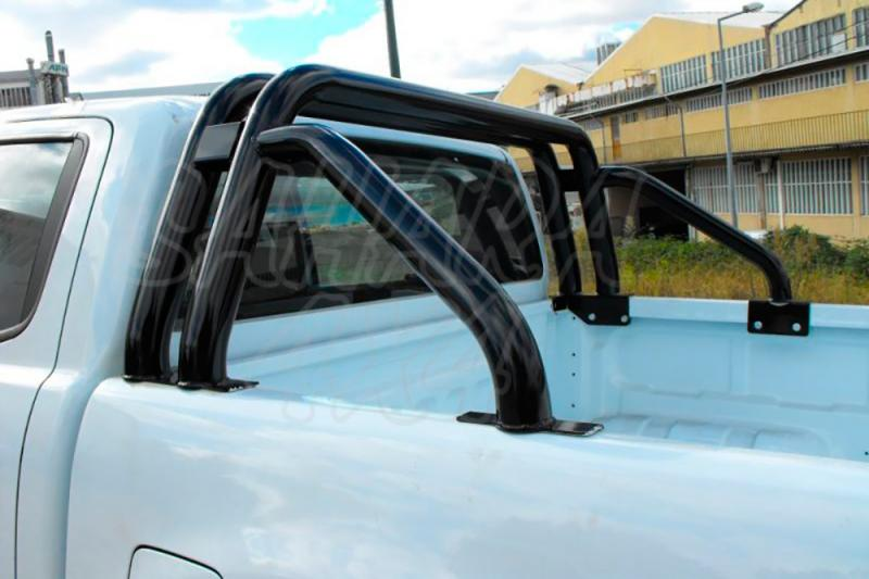 Rollbar (barras antivuelco) exterior completo en tubo negro Ø40mm para Ford Ranger 2012- - Nota: * Referencia bajo pedido