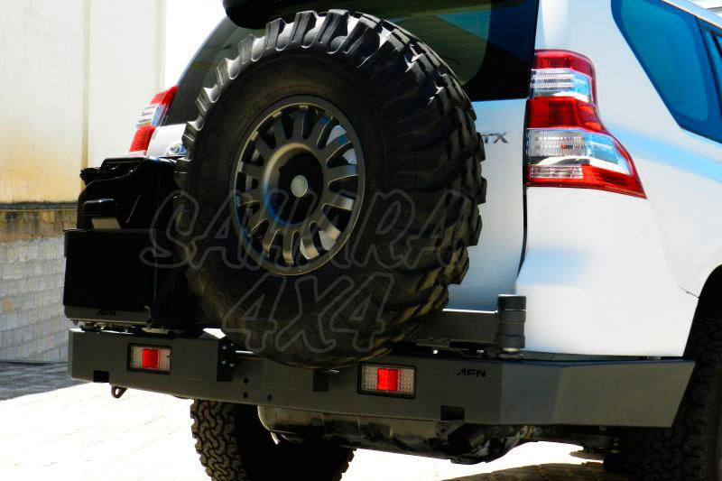 Parachoques trasero con doble soporte de rueda y bidon AFN para Toyota LandCruiser 150/155 -