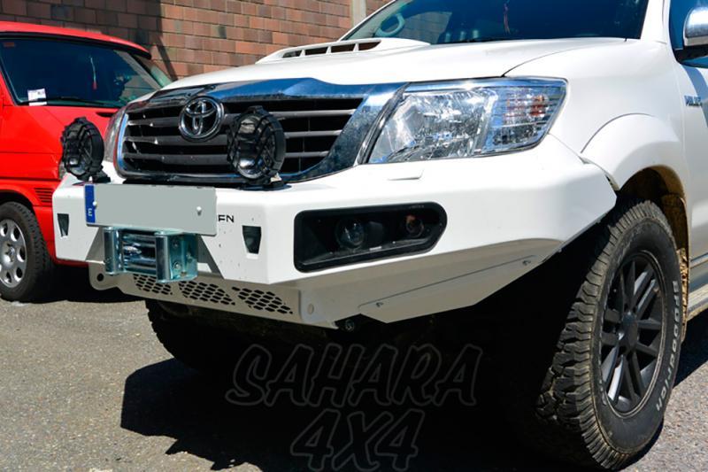 Parachoques frontal con base de cabestrante AFN para Toyota Hilux Vigo 2012- - Faros antiniebla e intermitentes