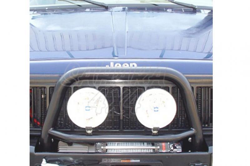 Arco central AFN con soporte de faros para parachoques frontal para Jeep Cherokee XJ 84-01