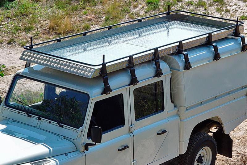 Baca de carga portaequipajes grande cerrada AFN para Land Rover Defender 130 -